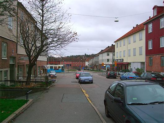 Korsningen mellan Godhemsgatan och Ekedalsgatan
