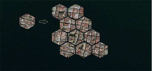 En stad byggd i modulform, författarens illustration. Enligt en studie gjord av Kelvin Ko på TU Delft skulle flytande städer med upp till femton våningar klara orkaner.
