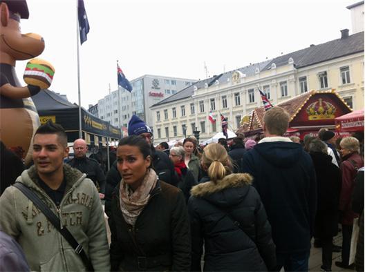 Folktätheten på Gustav Adolfs drar i sig till sig folk