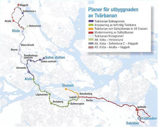 Turerna Kring Tvarbanan Yimby Stockholm