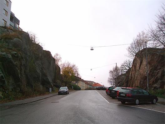 Såggatan sedd från Ekedalsgatan