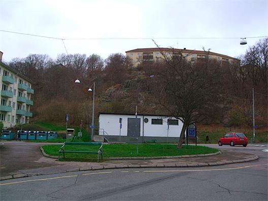 Vy mot Gråberget vid Slottsskogsgatan