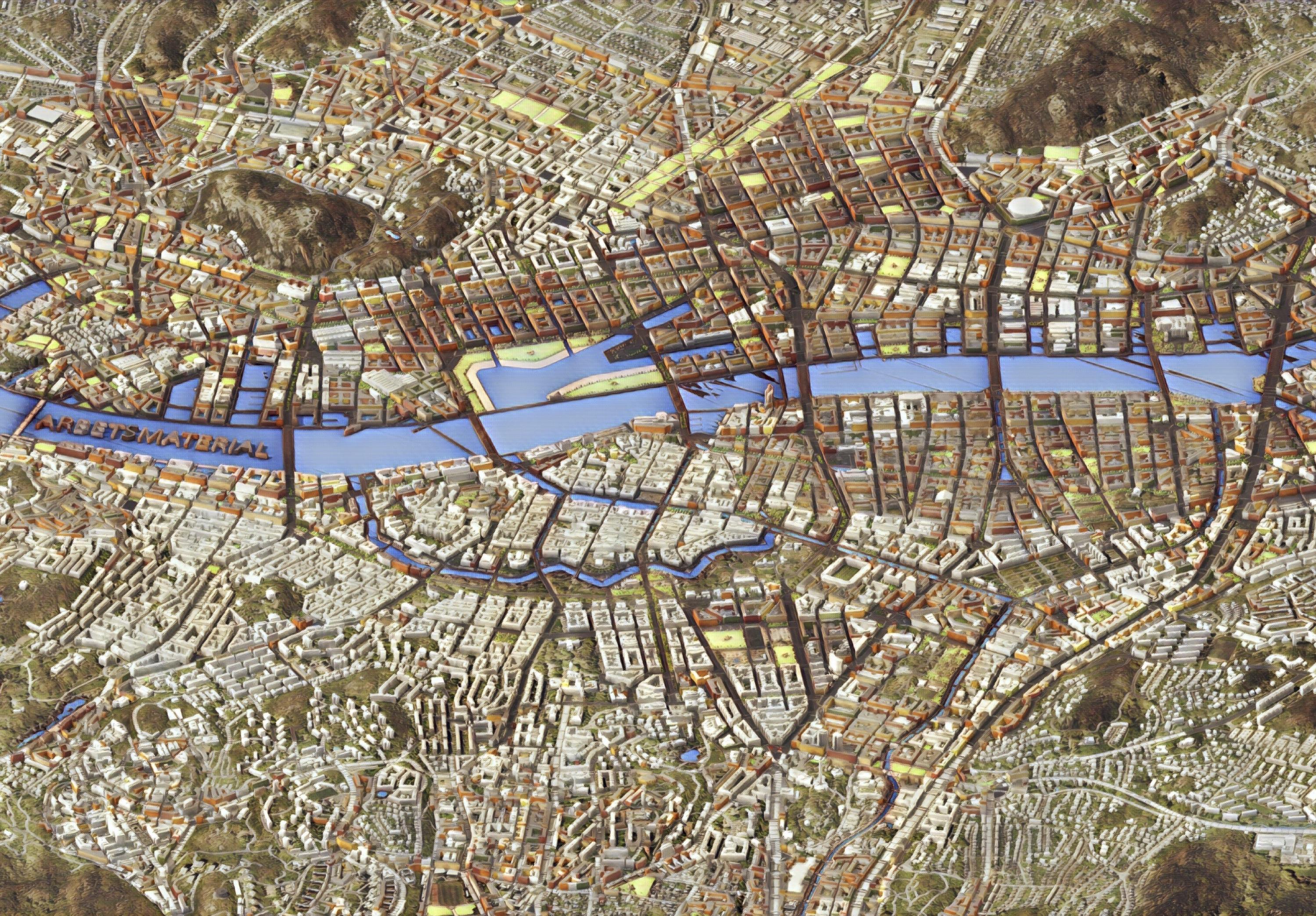 Historisk Stadsplaneanalys For Goteborgs Stad Nu I 3d Med City