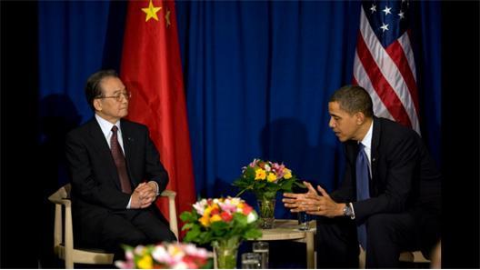 Wen Jiabao och Barak Obama