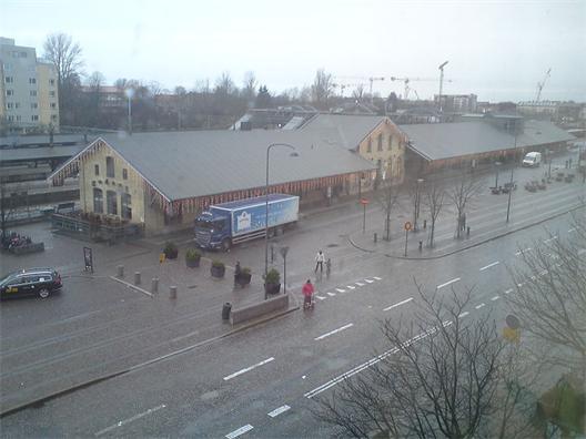 Godsmagasinet vid centralstationen i Lund.  Foto: Jonas Andréasson, 2011. Källa Wikipedia.